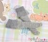 【KS-C14】(B/P) Lace Top Below Knee Socks # Grey
