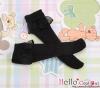 【KS-C15】(B/P) Lace Top Below Knee Socks # Black