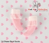 【KS-A11/KS-S26】(B/P) Lace Top Ankle Socks # Pink