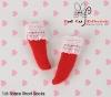 【KS-A08/KS-S27】(B/P) Lace Top Ankle Socks # Red