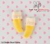 【KS-A07/KS-S28】(B/P) Lace Top Ankle Socks # Yellow