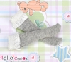 【KS-C03】(B/P) Lace Top Below Knee Socks # Grey