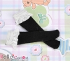 【KS-C04】(B/P) Lace Top Below Knee Socks # Black