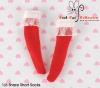 【KS-C06/KS-S32】(B/P) Lace Top Below Knee Socks # Red