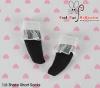 【KS-A04/KS-S35】(B/P) Lace Top Ankle Socks # Black