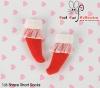 【KS-A10/KS-S36】(B/P) Lace Top Ankle Socks # Red