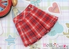 35.【PE-04】Blythe/Pullip Accordion Mini Short Skirt # Stripe Red
