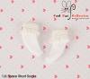 【KS-A03/KS-S04N】B/P Lace Top Ankle Socks # White