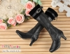 【LS-01】Leather Long Boots(SD/DD)# Black