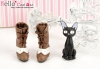 【26-7】B/P High-Heeled Short Boots.Chocolate