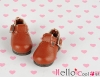 【03-02】B/P Mini Shoes # Red Brown