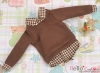 239.【NE-6】B/P Long Sleeve Layered Look Top # Brown