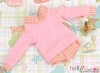 390.【NE-9】B/P Long Sleeve Layered Look Top # Pink