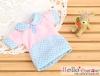 241.【NF-07】Blythe/Pullip Flat Collar T-Shirts # Dot/Pink Blue