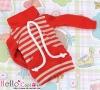 123.【NH-B01】Blythe Pullip Pocket Top # Stripe Red+Gray
