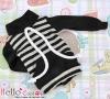 127.【NH-B02】Blythe Pullip Pocket Top # Stripe Black+Gray