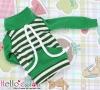 129.【NH-B03】Blythe Pullip Pocket Top # Stripe Green+White
