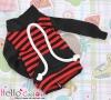 130.【NH-B04】Blythe Pullip Pocket Top # Stripe Red+Black
