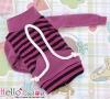 131.【NH-B05】Blythe Pullip Pocket Top # Stripe Violet+Black