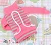 138.【NH-B08】Blythe Pullip Pocket Top # Stripe Pink+Grey
