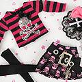 【HO-03】Blythe / Pullip Outfit Set W/Hot Fix Skull Rhinestone # Skull