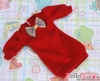 64.【NK-41】Blythe Pullip(Puffed Sleeves)Clothes # Deep Red(Bow)