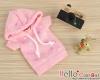 262.【NP-A04】B/P Hoodie Top(Short Sleeves)# Star Pink