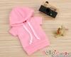 278.【NP-A10】B/P Hoodie Top(Short Sleeves)# Pink