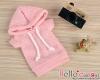 282.【NP-A12】B/P Hoodie Top(Short Sleeves)# Dot Pink