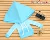 215.【NP-C02】B/P Hoodie Top(Big Cap+Pocket)# Grid Sky Blue