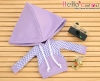 216.【NP-C03】B/P Hoodie Top(Big Cap+Pocket)# Grid Violet