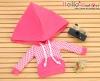 231.【NP-C04】B/P Hoodie Top(Big Cap+Pocket)# Grid Deep Pink