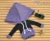 269.【NP-C10】B/P Hoodie Top(Big Cap+Pocket)# Dot Purple
