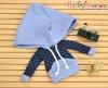 259.【NP-C11】B/P Hoodie Top(Big Cap+Pocket)# Dot Blue