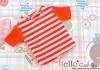 02.Blythe/Pullip T-Shirt ( NS-02N ) Stripe Tangerine