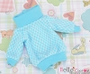 41.【NI-11】Blythe Pullip Lovely Clothes(Grid)# White+Sky Blue