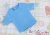 09.【NS-39N】Blythe/Pullip short sleeve T-shirt(crew neck)# Dodger Blue