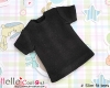 371.【NS-51】Blythe/Pullip short sleeve T-shirt(Slim Fit)# Black