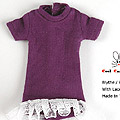 137.【NS-L02】Blythe / Pullip Long Top w/Lace # Dark Violet