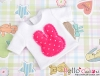 401.【NS-05】Blythe/Pullip T-Shirt(Rabbit)# White/Deep Pink