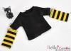 343.【NT-12】Blythe Pullip(Separate Sleeves)Tee # BK/Yellow