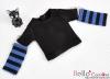 345.【NT-14】Blythe Pullip(Separate Sleeves)Tee # BK/Blue