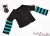 347.【NT-16】Blythe Pullip(Separate Sleeves)Tee # BK/Teal