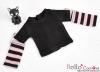 348.【NT-17】Blythe Pullip(Separate Sleeves)Tee # BK/Pink
