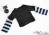 349.【NT-18】Blythe Pullip(Separate Sleeves)Tee # BK/SkyBlue