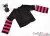 351.【NT-19】Blythe Pullip(Separate Sleeves)Tee # BK/Deep Pink