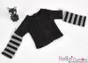 353.【NT-20】Blythe Pullip(Separate Sleeves)Tee # BK/Grey