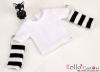 393.【NT-22】Blythe Pullip(Separate Sleeves)Tee # Stripe White/BK