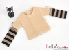 361.【NT-5】Blythe Pullip(Separate Sleeves)Tee # Stripe Brown