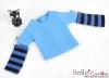 335.【NT-6】Blythe Pullip(Separate Sleeves)Tee # Stripe Blue